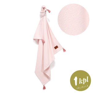 COTTON LIGHT TENDER ETHNIC BLANKET ohut viltti - POWDER PINK