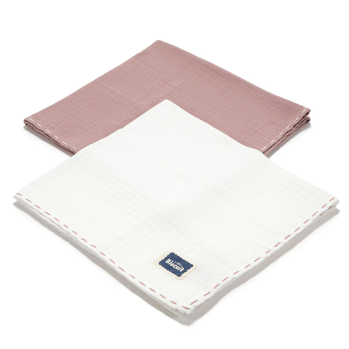 MUSLIN SWADDLE (2-PACK) 100% COTTON puuvillaharsot - FRENCH LAVENDER & OFF WHITE