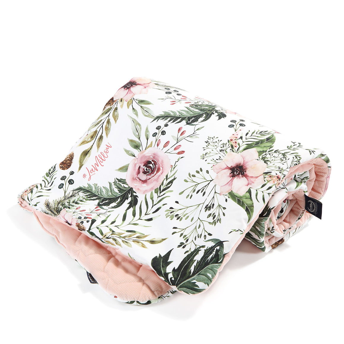 MEDIUM BLANKET - Wild Blossom | Velvet Powder Pink