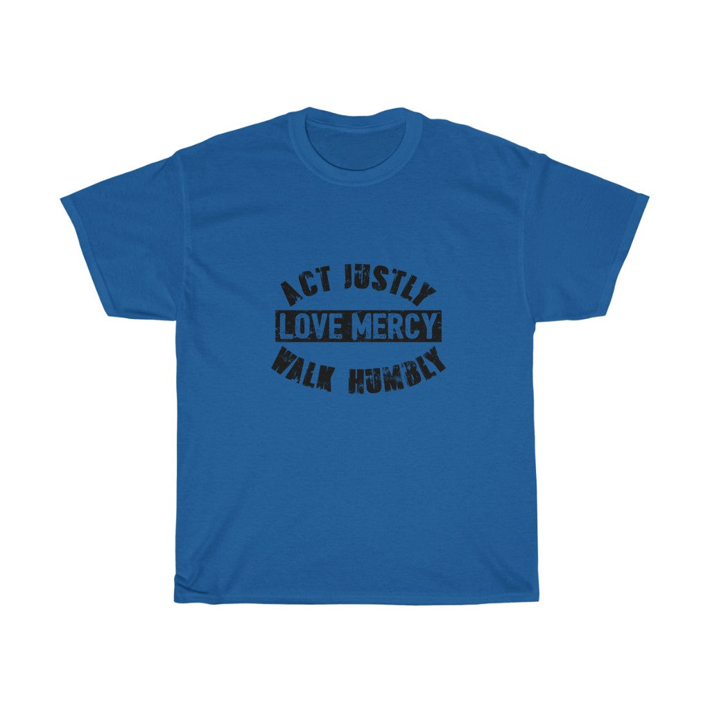 Act Justly Unisex Heavy Cotton Tee
