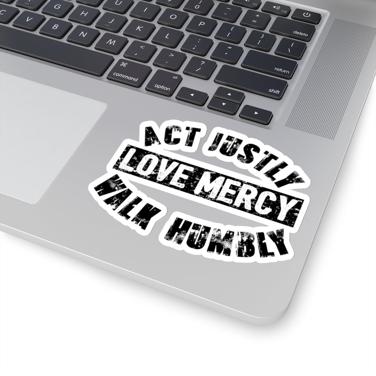 Act Justly Kiss-Cut Stickers