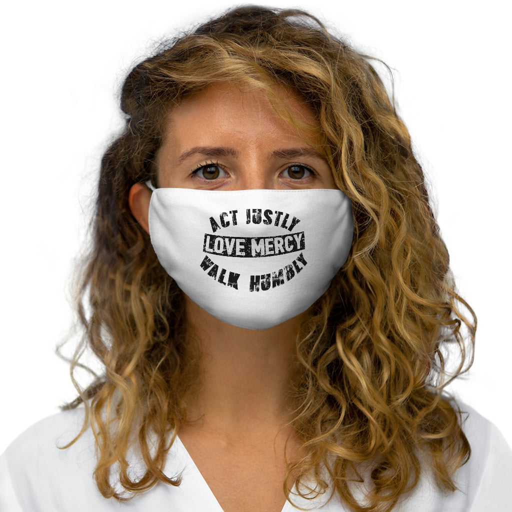 Act Justly Snug-Fit Polyester Face Mask