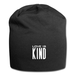 love is kindJersey Beanie - black