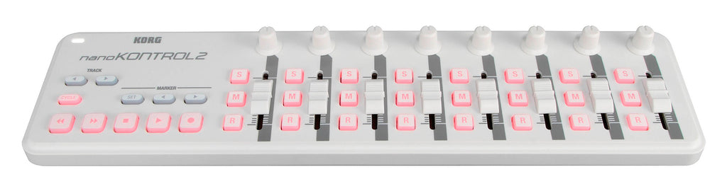 Controlador Midi Korg Nano Kontrol 2 - 8 Faders - 18 Switch Us - Blanco-PIANOS ROCKS