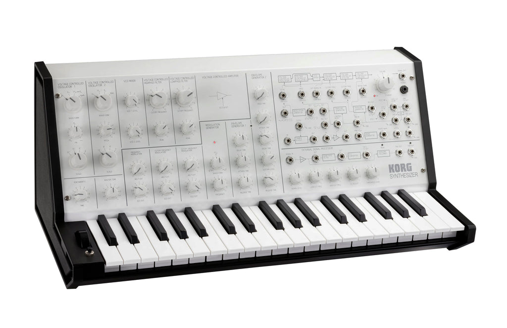 Sintetizador Korg MS-20 Mini Monofonico Analogico en Blanco-PIANOS ROCKS