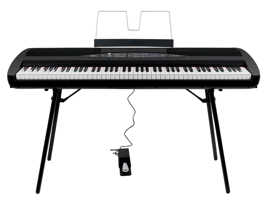 Piano Digital Korg SP280 De 88 Notas Con Soporte - En Negro-PIANOS ROCKS