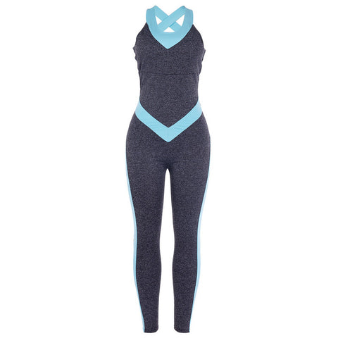 Women Sport Suit Female Yoga Set Women Tracksuit Sexy Ensemble Sportswear Fitness One piece Jumpsuits Gym Wear Running Clothes
