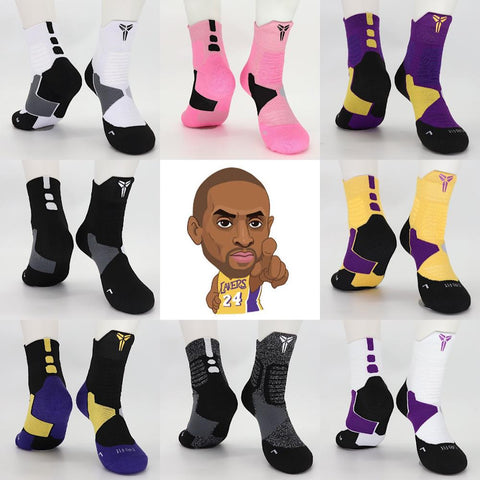 Kobe Bean Bryant Basketball Middle Calf NO24 MVP Socks