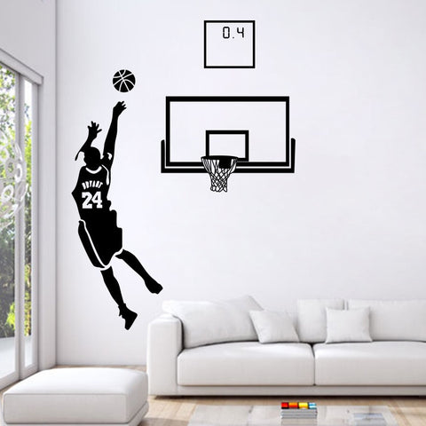 Basketball star Kobe Bryant kills 0.4 wall stickers