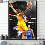 Art Poster Kobe Bryant No.24 Basketball Star Posters and Prints Wall Picture Canvas Painting Room Home Decoration
