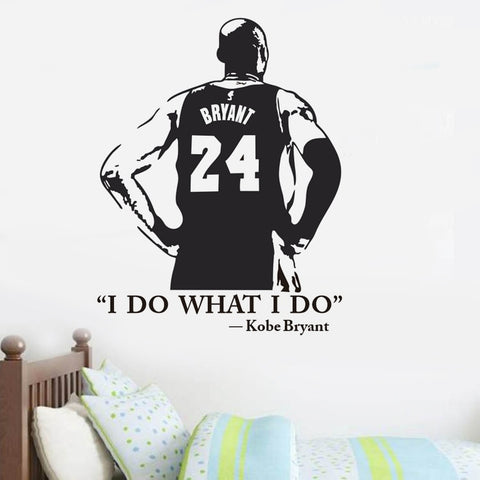 I DO WHAT I DO Kobe Bryant Basketball Character Vinyl Wall Decal