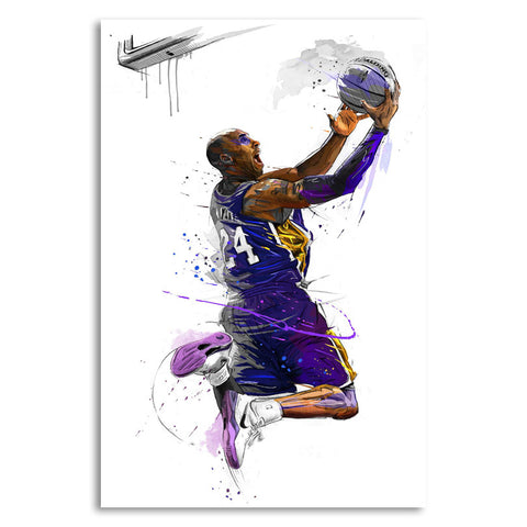Kobe Bryant Basketball Prints 12X18 24X36 inch Art Poster Canvas