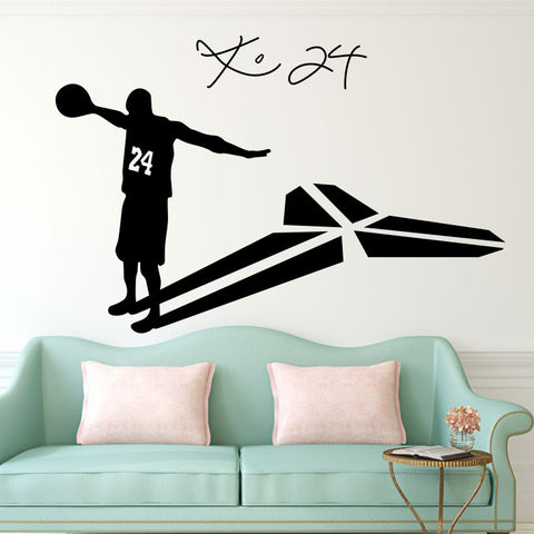Kobe Bryant 24 basketball player living room glass wall stickers
