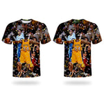 3D Tshirt Basketball Star Kobe T shirt Memorial