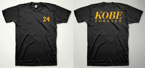 KOBE FOREVER Bryant T-shirt 24 RIP MAMBA  Black T Shirt double side