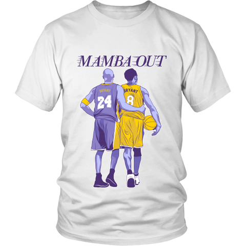 Kobe Rip Bryant Mamba Out Cotton Men T-Shirt