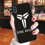 Basketball Star KOBE  Soft Phone Case for iPhone