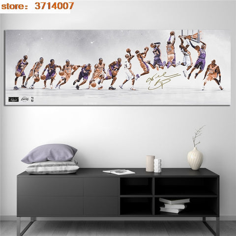 Kobe Bryant Lakers Dynasty Road To Growth Wall Art Poster for Living Room