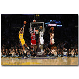 Michael Jordan Kobe Bryant LeBron James MVP Cloth Art Poster Canvas Painting