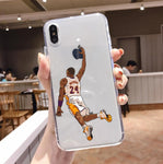Luxury Dear Basketball Kobe Transparent soft silicone Case For iPhone