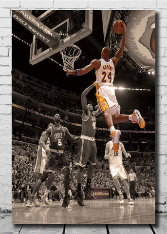 Kobe Bryant Top Basketball Canvas Poster Wall Print 14x21 24x36