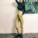 High waist pants camouflage loose joggers