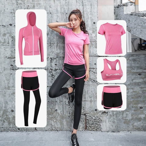 Women Sports Clothing Yoga Wear Set Gym Fitness Suit for Outdoor Running Jogging Clothes Training Workout Quick Dry Jumpsuit