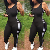 2018 Sexy Women Sports Jumpsuit Gym Yoga Running Fitness Athletic Sleeveless Leggings Pants Jumpsuit Romper Summer Tracksuit