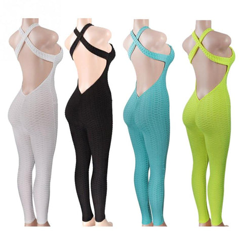 Yoga Sets Fitness Clothing Women's One-pieces Sports Suit Set Workout Gym Fitness Jumpsuit Pants Sexy Yoga Set Gym Bodysuit