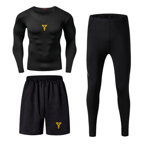 Kobe  Fitness Wear Tights Sportswear Quick Drying Gym Compression Sets