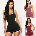 2018 Sexy Women Sports Jumpsuit Sleeveless Gym Fitness Stretch Athletic Training Beach Playsuit Bodycon Summer Sportswear