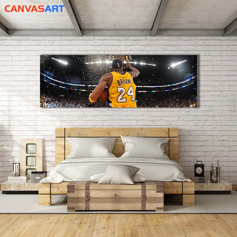 Canvas Art Pictures Basketball superstar Kobe Bryant Lakers championship Wall Art