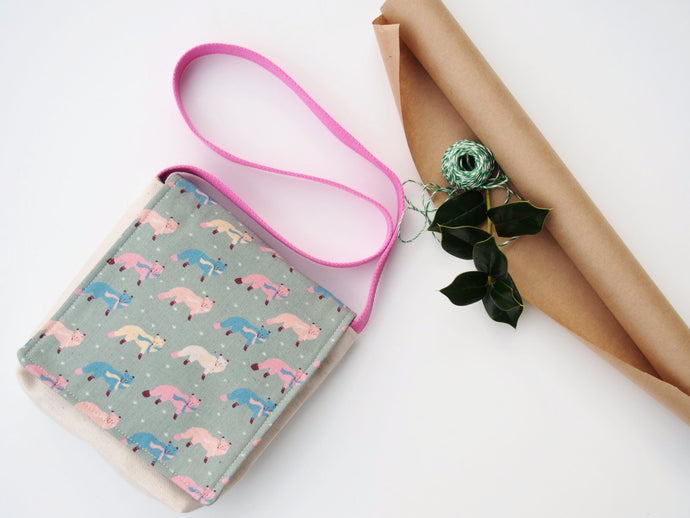 Beatrice The Fox in Sox Messenger Bag for Toddlers