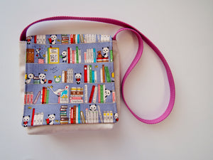 Panda Loves Books Toddler Messenger Bag