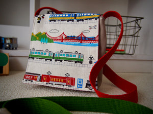 Trains & Tracks (Light) Toddler Messenger Bag