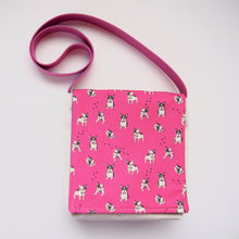 Frenchies: French Bulldog Pink Messenger Bag