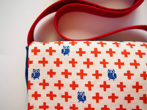 Owls n Red Crosses Modern Toddler & Preschool Messenger Bag