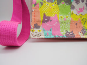 Colourful Cats Toddler Messenger Bag