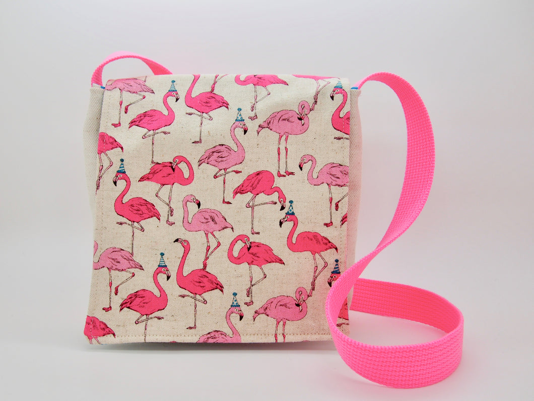 Flamingo Knows How to Party Toddler Bag