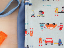 Robots in the Car Factory (Blue) Baby Messenger Bag