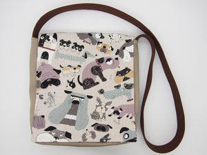 Curly Tail & The Gang Dog Toddler Messenger Bag