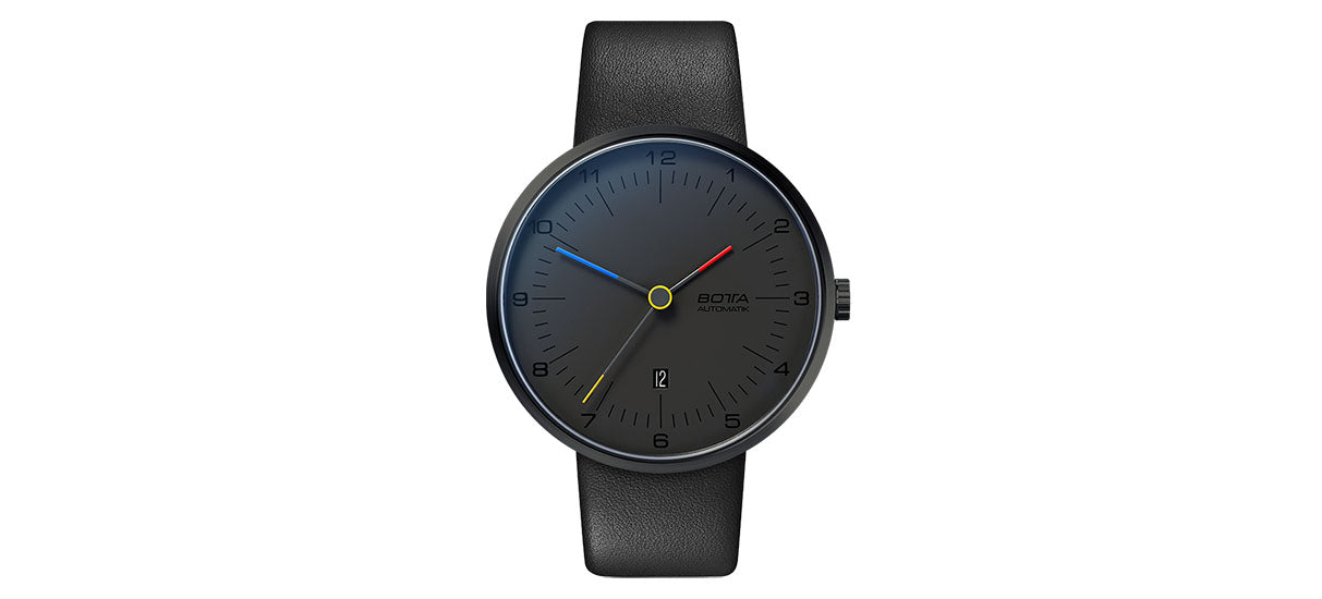 TRES colores Automatic 44mm -  colores / Leather strap