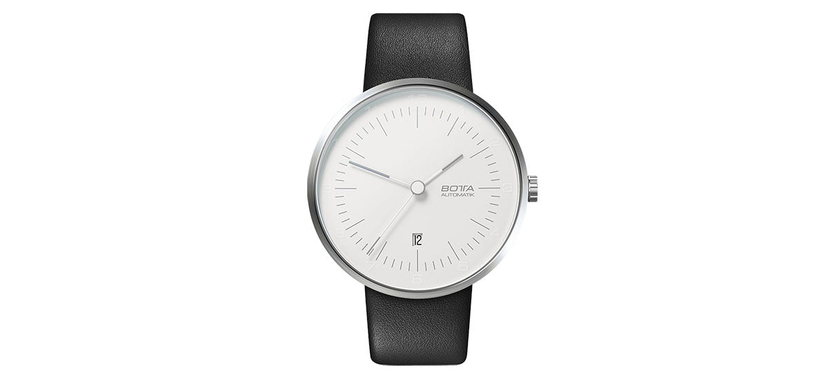 TRES Automatic 44mm - White / Leather strap