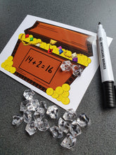 Write-and-wipe Counting Treasure Chests