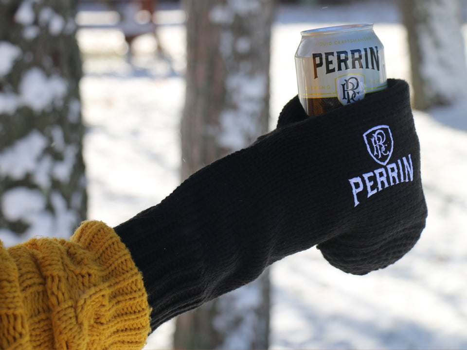 Black Knit Beer Glove