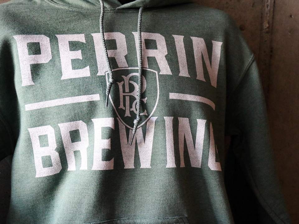 Heathered Dark Green Hoodie