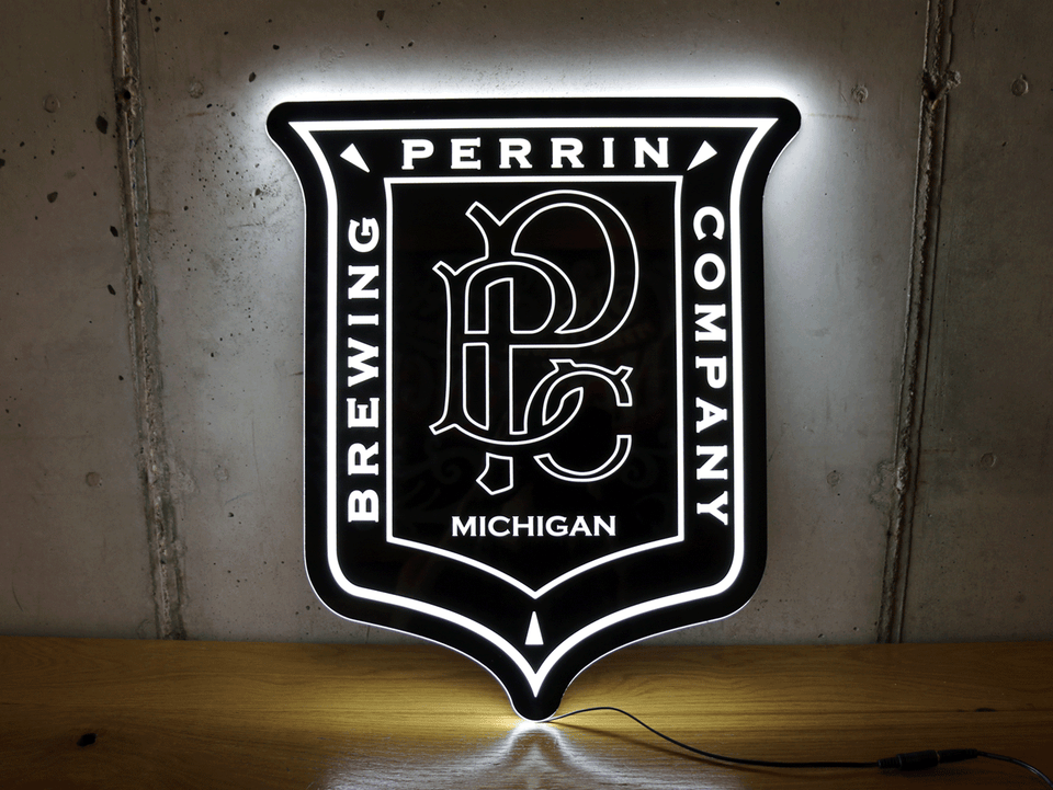 LED Vintage Perrin Sign