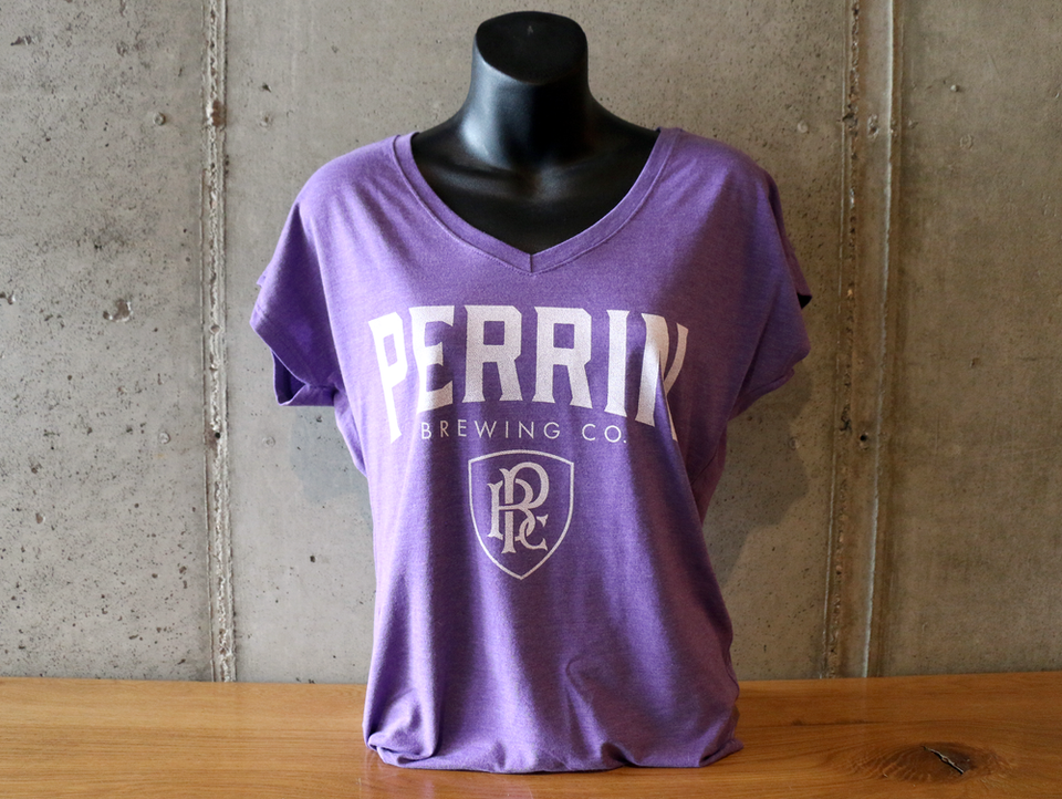 Women's Purple V-Neck Tee