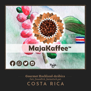 "MajaKaffee ""Costaganda Blend"", 50% Arabica (Costa-Rica) & 50% Robusta (Uganda)"