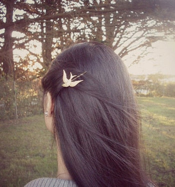 Rustic Swallow Hair Pin